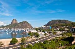 Botafogo and Sugarloaf Mountain, Rio de Janeiro Royalty Free Stock Photos