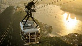 Botafogo von der Drahtseilbahn Stockfoto