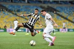 Botafogo 2 x 3 Santos sista ställning Arkivfoto
