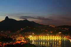 Botafogo y redentor de Cristo - Rio de Janeiro imagen de archivo