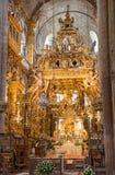 Botafumeiro et autel images libres de droits
