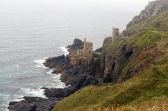 Botallack Mine and coastline,St Just,Cornwall Stock Image
