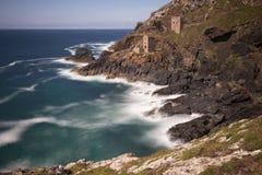 Botallack tidigare tennminer, St precis, Cornwall, England royaltyfria foton