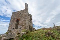 Botallack Tin mines in Cornwall Uk England Royalty Free Stock Photo