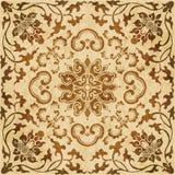 Botani предпосылки ретро коричневого grunge текстуры акварели безшовное Стоковые Изображения RF