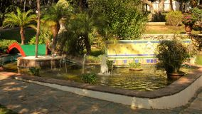 Botanic公园Molino del Inca -安大路西亚 免版税库存照片