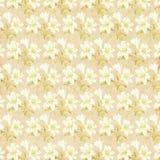 Botanic flower paper wallpaper Stock Image