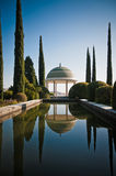 Botanic Garden. Of Malaga, Andalusia, Spain with a pool Stock Photo