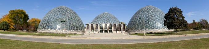 Botanic Garden Domes (panoramic) stock photography