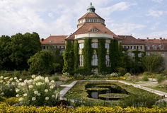 Botanic garden-munich. Part of the botanic garden munich with lily pond royalty free stock photography