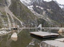 BOTANIC GARDEN SAUSSUREA, Mont Blanc area Royalty Free Stock Photography
