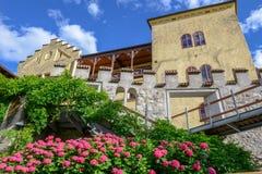Botanic garden of Trauttmansdorff Castle at Meran on Italy stock images