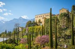 The Botanic Gardens of Trauttmansdorff Castle, Merano, south tyrol, Italy, royalty free stock photos
