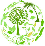 Botanical around the world Royalty Free Stock Images