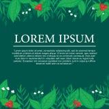 Botanical Background. Background with bontanical/floral decoratin.Botanical Frame Royalty Free Stock Photos