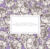 Botanical background royalty free illustration