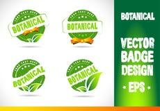 Botanical Badge Vector Royalty Free Stock Photos