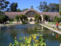Botanical Building in Balboa Park, San Diego. Botanical Building with lily pond, Balboa Park, San Diego Royalty Free Stock Photography