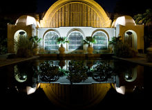 Botanical building, Balboa Park, San DIego. Botanical building at night, Balboa Park, San DIego Royalty Free Stock Photos