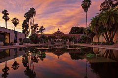 Botanical Building at sunset in Balboa Park, San Diego, CA Stock Image
