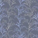 Botanical dark violet seamless pattern stock illustration