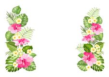 Botanical decorative garland. Stock Photo