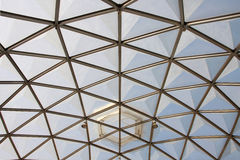 Botanical dome glass roof pattern, Royalty Free Stock Photography