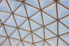 Botanical dome glass roof pattern, Royalty Free Stock Photos