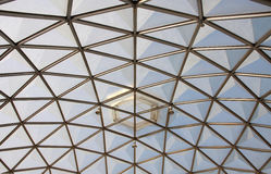 Botanical dome glass roof structure. Botanical dome roof in Bangkok, that construct from aluminum and acrylic sheet, Thailand stock photos
