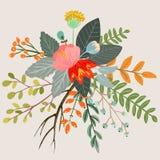 Botanical floral bouquet Stock Images