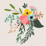 Botanical floral bouquet Stock Photography