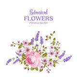 Botanical flowers garland. Royalty Free Stock Photography