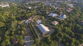 Botanical Garden in Balchik from Above, Bulgaria Royalty Free Stock Image