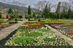 Botanical Garden from Balchik, landmark attraction in Bulgaria. Spring landscape Royalty Free Stock Photos