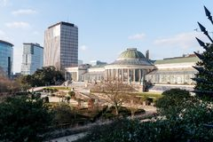 Botanical Garden of Brussels. The venue Le Botanique and the historical Botanical Garden in Brussels, Belgium Stock Image