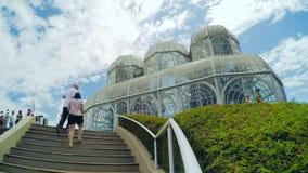 Botanical Garden of Curitiba PR, Brazil stock video footage