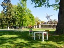 The botanical garden of Lugano Stock Photos