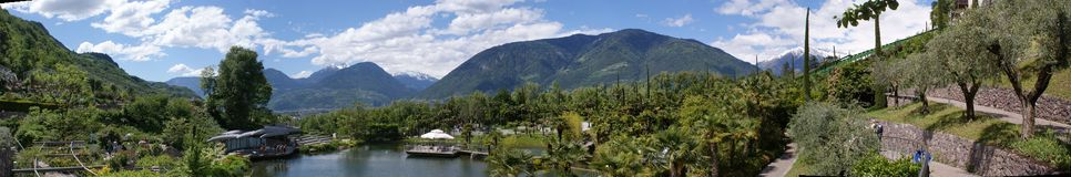 Botanical garden of Merano Royalty Free Stock Image