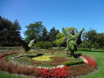 Ciudad de Montreal Canadá. City of Montreal Canada. Botanical garden in Montreal Canada with a blue sky in summer royalty free stock images