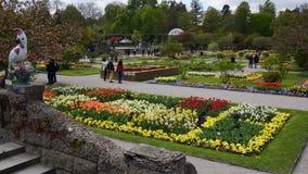 botanical garden, munich bavaria stock photo