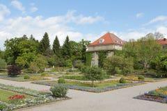 Botanical garden in munich with a blue sky Stock Photos