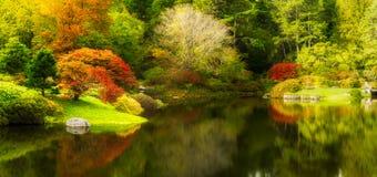 Botanical Garden in Northeast Harbor, Maine stock images