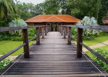 Botanical Garden Restaurant. Luxury restaurant inside a botanical garden Stock Images