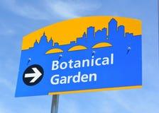 Botanical Garden Sign-Des Moines Iowa Stock Photography