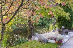 Botanical garden in Tartu, Estonia. Beautiful autumn arriving in botanical garden Royalty Free Stock Photography