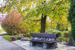 Botanical garden in Tartu, Estonia. Beautiful autumn arriving in botanical garden Stock Image