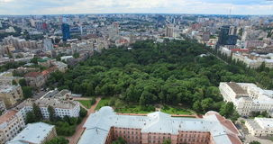 Botanical Garden University of Taras Shevchenko cityscape sights in Kyiv of Ukraine. Architecture and historical buildings in the city center stock video