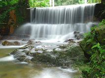 Botanical Garden Waterfall in Penang, Malaysia.  Stock Photos