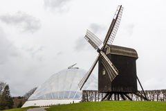 Botanical garden and windmill in Aarhus Denmark Royalty Free Stock Image