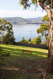 Botanical gardens. View of the Derwent River from the Hobart Botanical Gardens Royalty Free Stock Photography